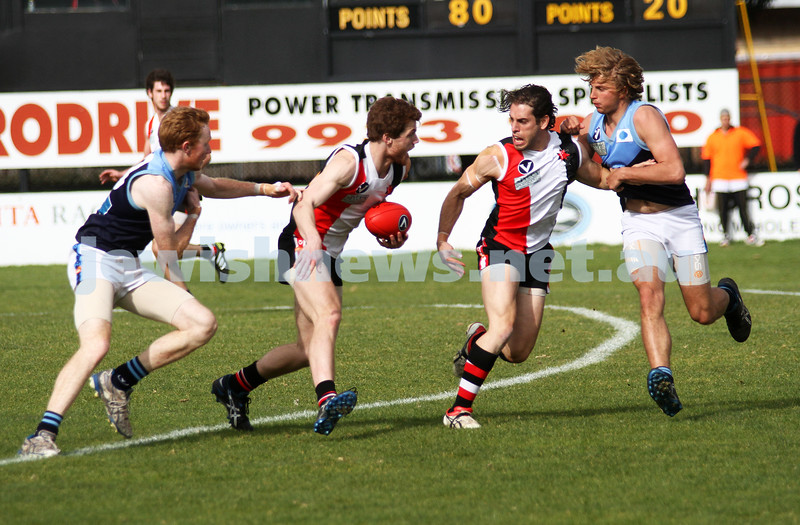 10-9-11. Ajax V Old Camberwell, Preliminary Final. Photo: Peter Haskin