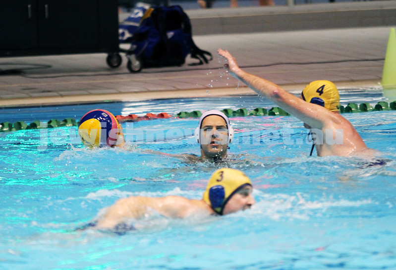 27-6-13. Water polo grand final at MSAC.  AJAX  lost to Melbourne Collegians. 1-4. Photo: Peter Haskin