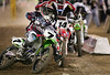 """James """"Bubba"""" Stewart (#7) in action at Angel Stadium in Anaheim, California on February 3, 2007 for Round 3 of the Amp'd Mobile/AMA Supercross Series.  Stewart took first place in the 250cc Main Event, sweeping the field by winning all three events in Anaheim this season."""
