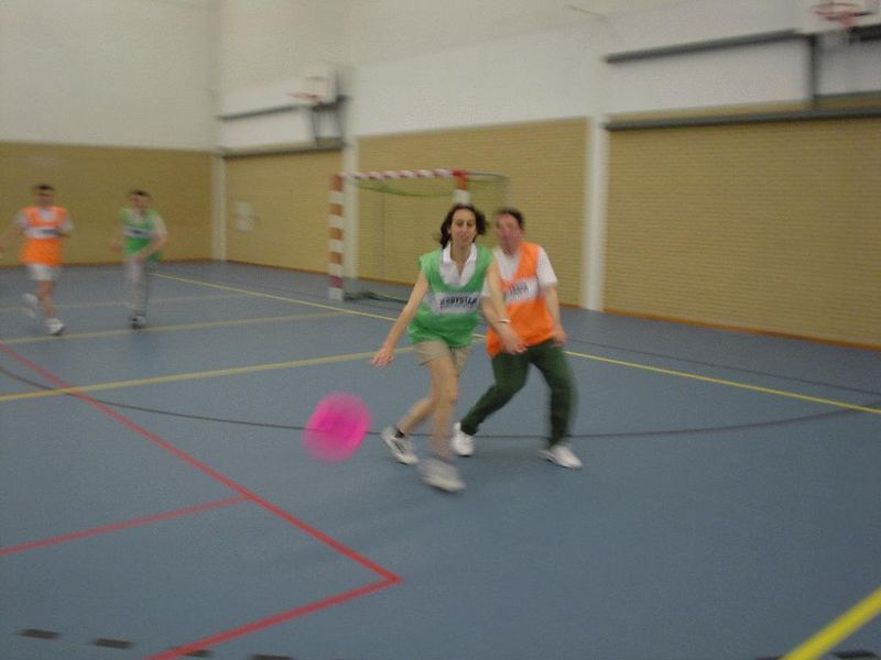 Lisa brilliantly disturbs this would-be touchdown! Excellent!