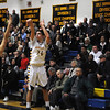 CARL RUSSO/Staff photo. Andover defeated Medford 68-60 in boys' tournament basketball action Tuesday night. Andover' captain, Chris Dunn takes the jump shot. 2/26/2013.