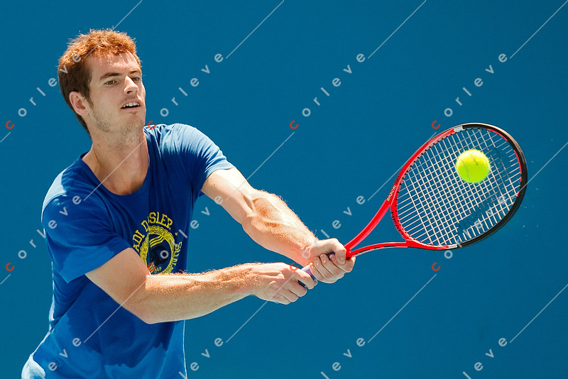 2010 Australian Open - Andy Murray Practices on Court 6
