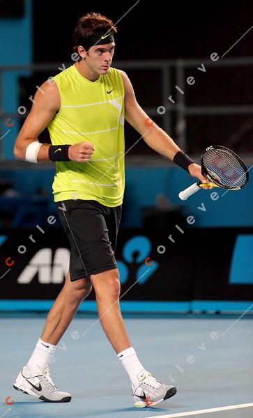 2010 Australian Tennis Open - RUSSELL, Michael (USA) vs DEL POTRO, Juan Martin (ARG) [4] - [photographer] Mark Peterson - 0541
