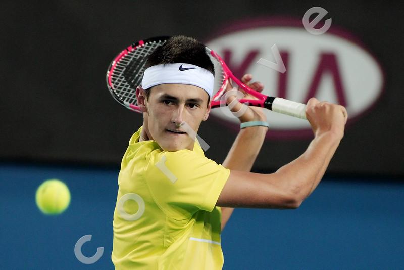 2010 Australian Tennis Open - RUFIN, Guillaume (FRA) vs TOMIC, Bernard (AUS) - [photographer] Mark Peterson - 0576