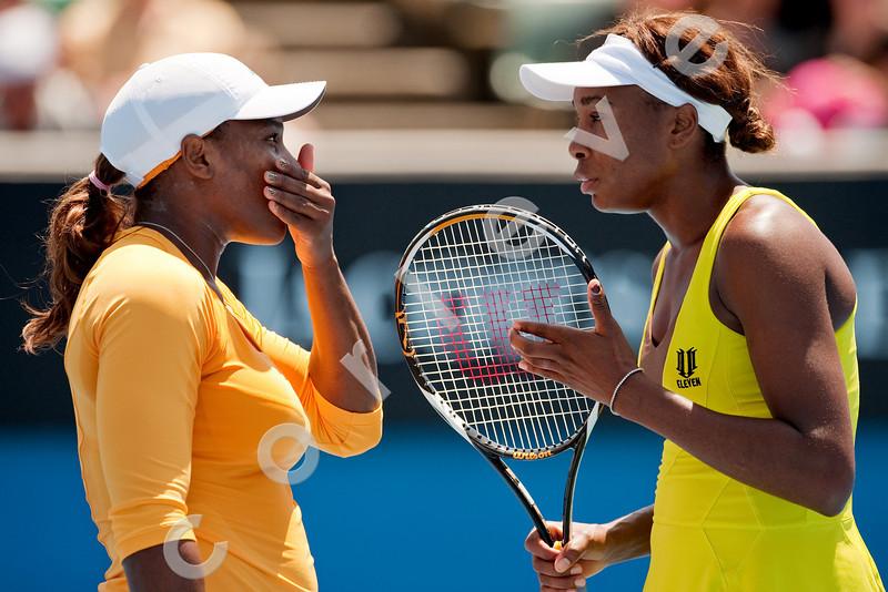 2010 Australian Tennis Open - HLAVACKOVA, HRADECKA (CZE) vs WILLIAMS (USA) - [photographer] Mark Peterson - 2010