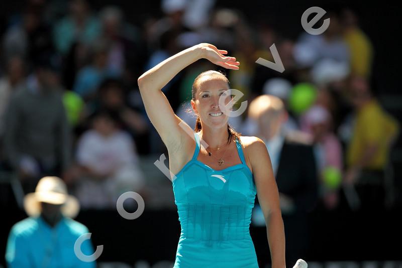 2010 Australian Tennis Open - JANKOVIC, Jelena (SRB) [8] vs NICULESCU, Monica (ROU) - [photographer] Mark Peterson - 1037