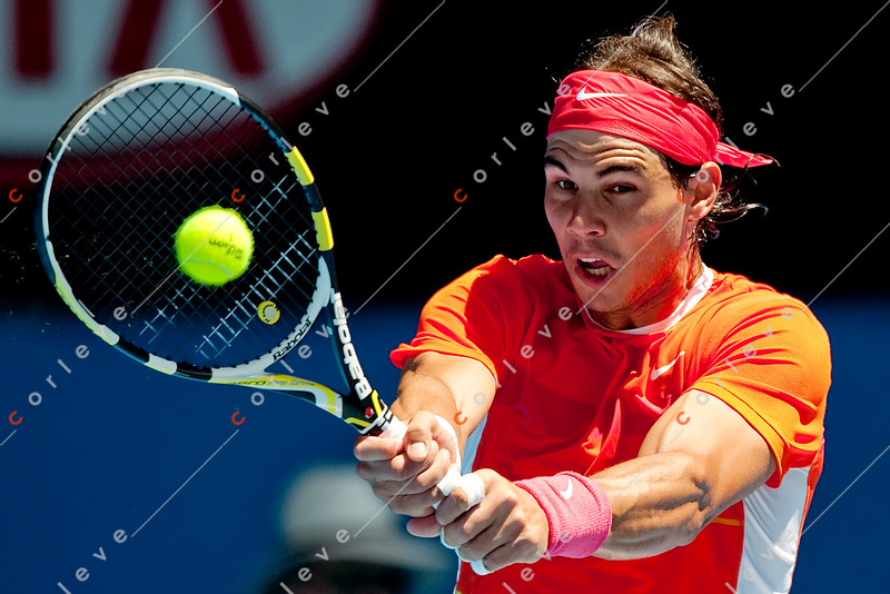 2010 Australian Tennis Open - KARLOVIC, Ivo (CRO) vs NADAL, Rafael (ESP) [2] - [photographer] Mark Peterson - 0801