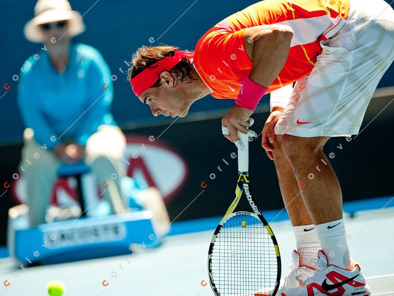 2010 Australian Tennis Open - KARLOVIC, Ivo (CRO) vs NADAL, Rafael (ESP) [2] - [photographer] Mark Peterson - 0964