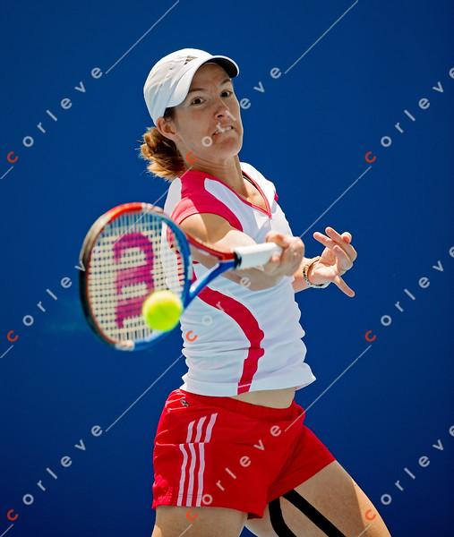 2010 Australian Tennis Open - [practice] Justine Henin - [photographer] Mark Peterson - 3854