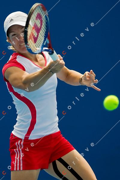 2010 Australian Tennis Open - [practice] Justine Henin  - [photographer] Mark Peterson - 3787