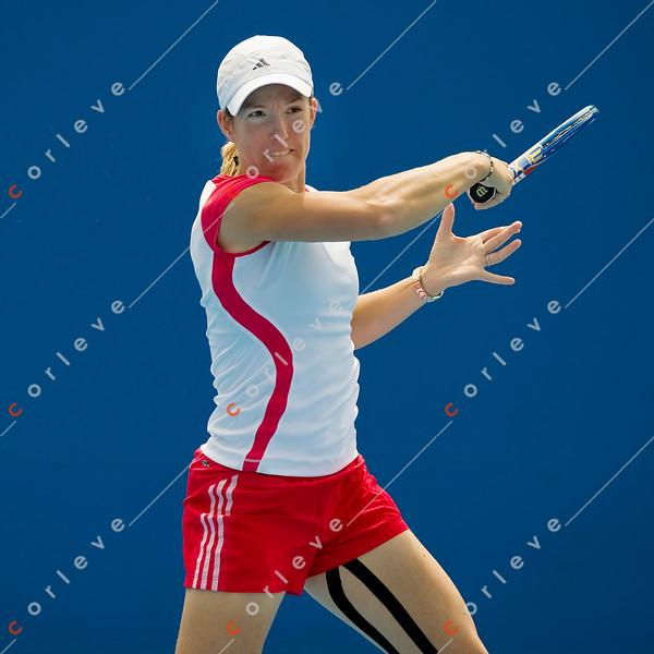 2010 Australian Tennis Open - [practice] Justine Henin  - [photographer] Mark Peterson - 3788