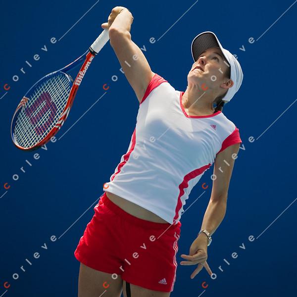 2010 Australian Tennis Open - [practice] Justine Henin  - [photographer] Mark Peterson - 3820