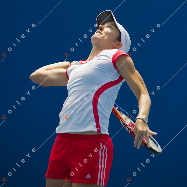 2010 Australian Tennis Open - [practice] Justine Henin  - [photographer] Mark Peterson - 3811