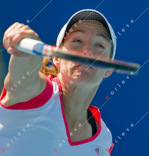 2010 Australian Tennis Open - [practice] Justine Henin  - [photographer] Mark Peterson - 3868
