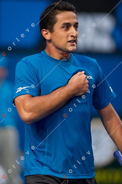 2010 Australian Tennis Open - TSONGA, Jo-Wilfried (FRA) [10] vs ALMAGRO, Nicolas (ESP) [26] - [photographer] Mark Peterson - 2791