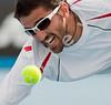 2010 Australian Tennis Open - TIPSAREVIC, Janko (SRB) vs HAAS, Tommy (GER) [18] - [photographer] Mark Peterson - 2979-2