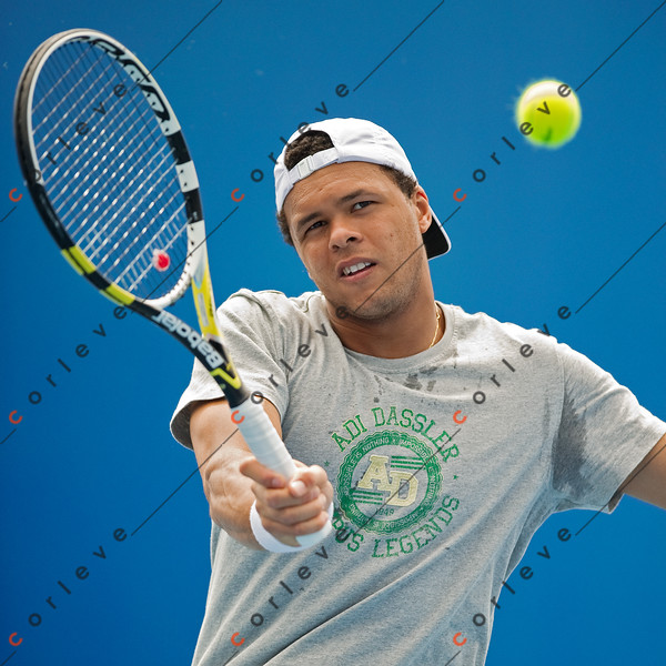 2010 Australian Tennis Open - [practice] Jo Wilfred Tsonga - [photographer] Mark Peterson - 3683