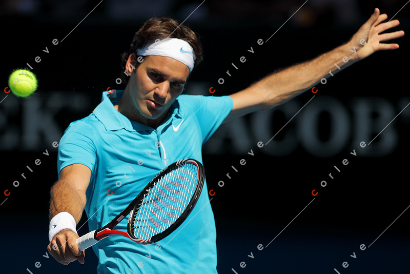 2010 Australian Tennis Open - FEDERER, Roger (SUI) [1] vs ANDREEV, Igor (RUS) - [photographer] Mark Peterson - 1042