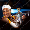 2010 Australian Tennis Open - Serena Williams vs Justine Henin - [photographer] Mark Peterson - 8149
