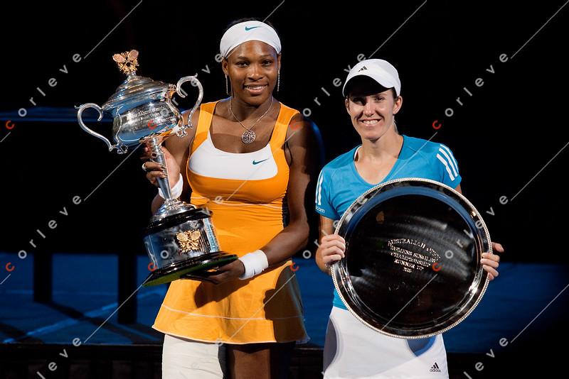 2010 Australian Tennis Open - Serena Williams vs Justine Henin - [photographer] Mark Peterson - 8146