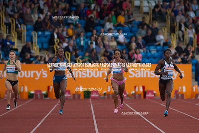IAAF DIAMOND LEAGUE-Birmingham Kelly Massey(GB), Jessica Beard(USA), Natasha Hastings (USA) and winner Christine Ohuruogu(GB)