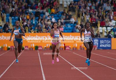 IAAF DIAMOND LEAGUE-Birmingham  Jessica Beard(USA), Natasha Hastings (USA) and winner Christine Ohuruogu(GB)