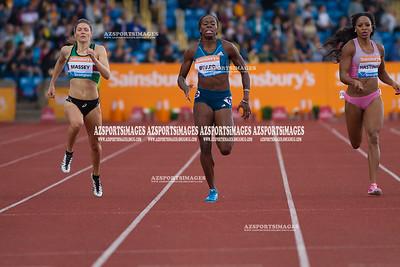 IAAF DIAMOND LEAGUE-Birmingham Kelly Massey(GB), Jessica Beard(USA), Natasha Hastings (USA)