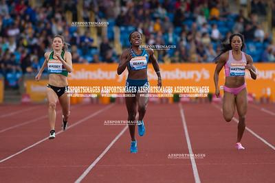 IAAF DIAMOND LEAGUE-Birmingham Kelly Massey(GB), Jessica Beard(USA), Natasha Hastings (USA)  Christine Ohuruogu(GB)