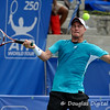 Lleyton Hewitt (AUS) hits a high forehand during the first round.  Lleyton Hewitt defeated Phillip Simmonds in straight sets 6-4, 6-4 in First Round Action on Tuesday in the Atlanta Tennis Championships at the Racquet Club of the South in Norcross, GA.