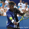 Phillip Simmonds (USA) slices a backhand volley during the first round.  Lleyton Hewitt defeated Phillip Simmonds in straight sets 6-4, 6-4 in First Round Action on Tuesday in the Atlanta Tennis Championships at the Racquet Club of the South in Norcross, GA.