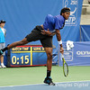 Phillip Simmonds (USA) follows through on his serve during the first round.  Lleyton Hewitt defeated Phillip Simmonds in straight sets 6-4, 6-4 in First Round Action on Tuesday in the Atlanta Tennis Championships at the Racquet Club of the South in Norcross, GA.