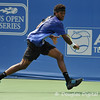 Phillip Simmonds (USA) runs after the ball to attempt a backhand during the first round.  Lleyton Hewitt defeated Phillip Simmonds in straight sets 6-4, 6-4 in First Round Action on Tuesday in the Atlanta Tennis Championships at the Racquet Club of the South in Norcross, GA.