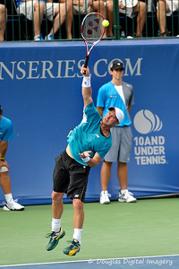 Lleyton Hewitt (AUS) serves during the first round.  Lleyton Hewitt defeated Phillip Simmonds in straight sets 6-4, 6-4 in First Round Action on Tuesday in the Atlanta Tennis Championships at the Racquet Club of the South in Norcross, GA.