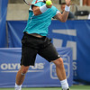 Lleyton Hewitt (AUS) hits a forehand to Phillip Simmonds (USA) during the first round.  Lleyton Hewitt defeated Phillip Simmonds in straight sets 6-4, 6-4 in First Round Action on Tuesday in the Atlanta Tennis Championships at the Racquet Club of the South in Norcross, GA.