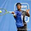 Phillip Simmonds (USA) hits a forehand during the first round.  Lleyton Hewitt defeated Phillip Simmonds in straight sets 6-4, 6-4 in First Round Action on Tuesday in the Atlanta Tennis Championships at the Racquet Club of the South in Norcross, GA.