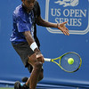 Phillip Simmonds (USA) goes down low for a slice backhand during the first round.  Lleyton Hewitt defeated Phillip Simmonds in straight sets 6-4, 6-4 in First Round Action on Tuesday in the Atlanta Tennis Championships at the Racquet Club of the South in Norcross, GA.