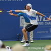 John Isner (USA) reaches for a forehand against Mardy Fish (USA) during the championship match.  Mardy Fish defeated John Isner in three sets 3-6, 7-6, 6-2 in the Championship Match on Sunday in the Atlanta Tennis Championships at the Racquet Club of the South in Norcross, GA.