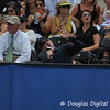 ESPN analyst Brad Gilbert discusses the location of the sun during the championship match.  Mardy Fish defeated John Isner in three sets 3-6, 7-6, 6-2 in the Championship Match on Sunday in the Atlanta Tennis Championships at the Racquet Club of the South in Norcross, GA.