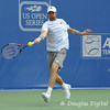 Mardy Fish (USA) lines up a forehand against John Isner (USA) during the championship match.  Mardy Fish defeated John Isner in three sets 3-6, 7-6, 6-2 in the Championship Match on Sunday in the Atlanta Tennis Championships at the Racquet Club of the South in Norcross, GA.