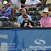 ESPN's Brad Gilbert gives courtside analysis of the John Isner (USA) vs Yen-Hsun Lu (TPE) quarterfinal match.  John Isner defeated Yen-Hsun Lu in straight sets 6-1, 6-2 in Quarterfinal Action on Friday  in the Atlanta Tennis Championships at the Racquet Club of the South in Norcross, GA.