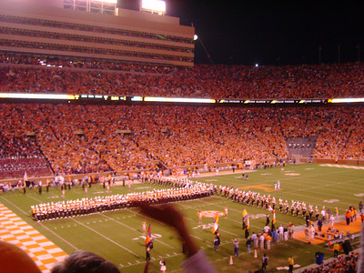 "UT Band forms the ""T""."
