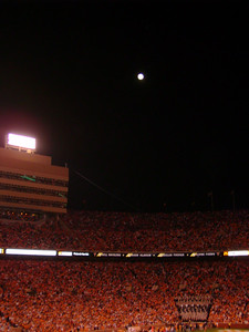 Better shot of the moon and fans!