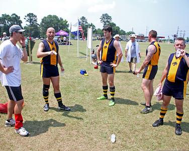 2011 AUSTRALIAN RULES FOOTBALL: Baton Rouge Tigers vs. Austin, Texas @ J.S. Clark Park in Baton Rouge. June 11, 2011