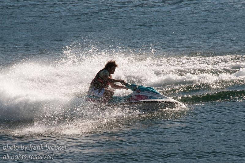 Jet skiing on Kootenay Lake