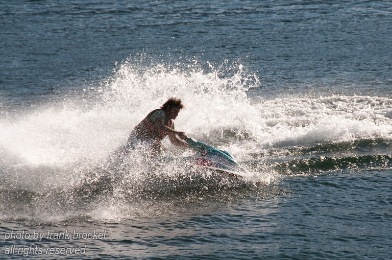 Jet skiing on Kootenay Lake