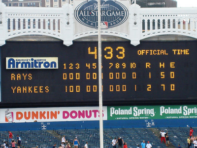 The last game I attended at the old Yankee Stadium, July 2008.