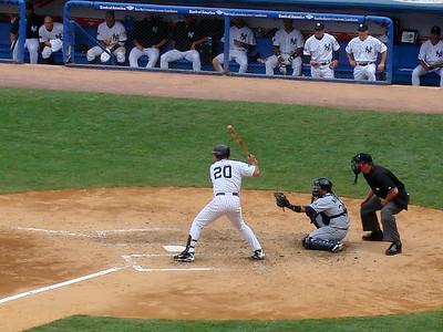 Jorge batting righty