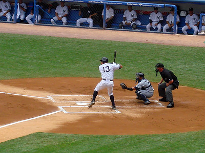 Now batting for New York, #13 Alex Rodriguez