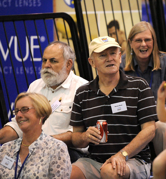 Bruce Ross the Boss. The President of Sydney University Sport enjoys attending as many of the Flames games as he can.