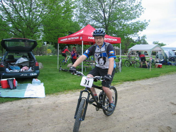 Scott getting ready for the start